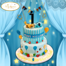 One-balloon-cake-design