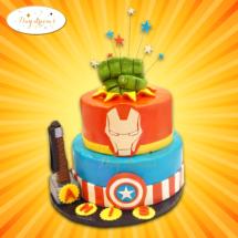super-heros-cake-design